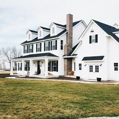 The white and navy blue house white farmhouse, modern farmhouse style, farmhouse plans, Farmhouse Exterior Colors, Modern Farmhouse Design, Farmhouse Style, Farmhouse Decor, Country Style, American Farmhouse, Exterior Color Schemes, Exterior Design, Exterior Shades