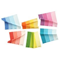 Paint Chip Napkin Multi 6Pk, $82, now featured on Fab. I love paint chips, but I would never pay $14 for a SINGLE napkin.