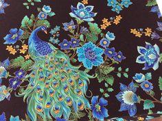 Peacock Pfau Baumwolle von Mamaja- verflixt und zugenäht auf DaWanda.com