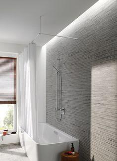 duschvorhangstange edelstahl ber eck als l form f r eine duschabtrennung und wasserschutz zu. Black Bedroom Furniture Sets. Home Design Ideas