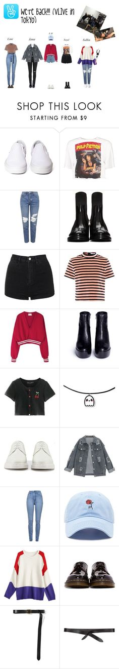 """""""Vlive in Tokyo. We're back :))))"""" by lws-official ❤ liked on Polyvore featuring Vans, Boohoo, Topshop, Acne Studios, WALL, T By Alexander Wang, Ash, Chicnova Fashion, Dr. Martens and Cheap Monday #acneclothing"""