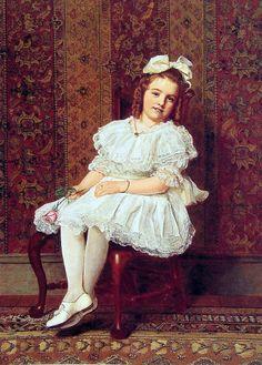 Portrait of Miss Gibson.John George Brown (1831 – 1913)