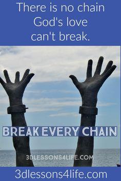 God's Love Sets Captives Free | 3dlessons4life.com | #ThoughtProvokingThursday