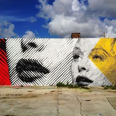 In your face mural done by Andrew Antonaccio in Wynwood. Via MoreThanSunshine.com