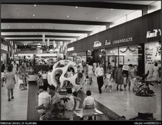 Sievers, Wolfgang, 1913-2007. Interior of Myer Northland shopping centre, Melbourne, Victoria, 1967, architects: Tomkins, Shaw and Evans, 4 [picture]