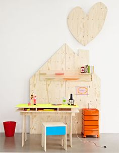 plywood desk childrens bedroom design ideas