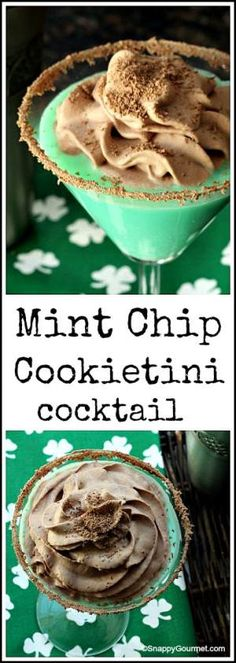 Mint Chip Cookietini - easy St. Patrick's Day green dessert cocktail recipe | SnappyGourmet.com ⅓ cup milk (or cream, half-and-half, melted vanilla ice cream, or your favorite dairy substitute) 2 Tablespoons Pinnacle Cookie Dough Vodka 2 Tablespoons Pinnacle Chocolate Vodka (or Chocolate Whipped Vodka) 2 Tablespoons Creme De Menthe Liqueur