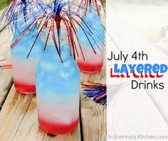 Sipping the Red, White and Blue and the Secret to Layered Drinks · Edible Crafts | CraftGossip.com