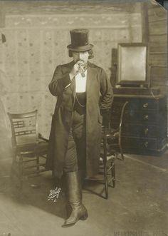 "Pasquale Amato as Jack Rance in ""Puccini's ""La Fanciulla del West"" from the world premiere production in 1910.  Photo: White Studios/Metropolitan Opera Archive"