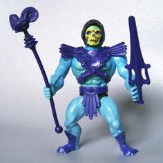 Vintage 1981 He-Man MOTU Half Boots Skeletor por VintageSeller76