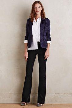 Citizens of Humanity Fleetwood Velvet Flare Jeans - #anthroregistry
