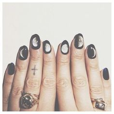 Moon cycle nails.