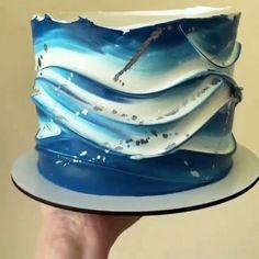 Buttercream Cake Decorating, Cake Decorating Designs, Creative Cake Decorating, Cake Decorating Tutorials, Buttercream Cake Designs, Simple Cake Designs, Beautiful Cake Designs, Simple Cakes, Elegant Birthday Cakes