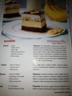 Cod Recipes, Sweet Recipes, Baking Recipes, Dessert Recipes, Desserts, Cookie Brownies, Cake Baking, Sweet Cakes, Macedonia