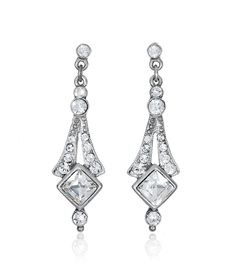 Crystal Deco Bridal Earring by Ben Amun Bridal | Thomas Laine