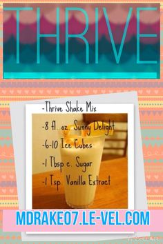 Thrive shake recipe