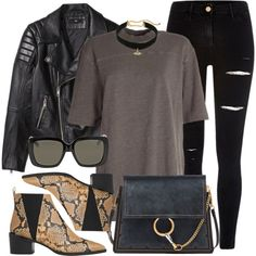 Ego by monmondefou on Polyvore featuring adidas Originals, H&M, River Island, Whistles, Chloé, Gucci, Rebecca Minkoff, casual and black