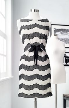 New York & Company: Eva Mendes Collection - Lola Striped Lace Dress Work Fashion, Fashion Beauty, Eva Mendes Collection, Fashion For Women Over 40, Work Attire, Dress Me Up, Striped Dress, My Style, Classic Style