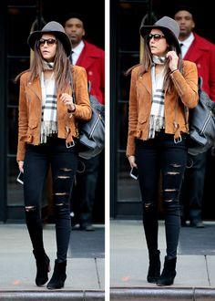 Nina Dobrev leaving her hotel in New York City // April 10, 2016