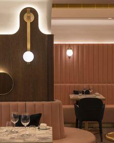 Architecture Restaurant, Restaurant Interior Design, Cafe Interior, Interior Architecture, Banquette Seating, Lounge Seating, Restaurant Seating, Cafe Restaurant, Commercial Design