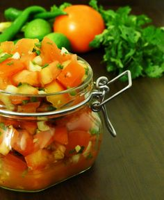 A yummy pico de gallo dip! Healthy, refreshing, and a perfect way to impress your friends at gatherings!