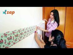 Como aplicar papel de parede e tecido adesivo? Veja o vídeo -