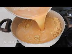 Semolina Halvah I& Prepared With A Sherbet That Will Stay On Your Taste - Daily, Dessert recipes Dinner Recipes, Dessert Recipes, Deserts, Food And Drink, Pudding, Cheese, Apple, Fruit, Cooking