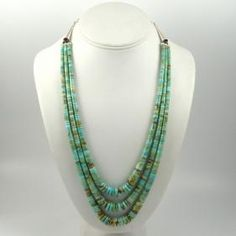 Turquoise Waterfall Necklace by Lester Abeyta - Garland's Indian Jewelry
