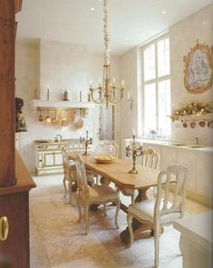 Natural Light and Shades of White! Beautiful French Kitchen………