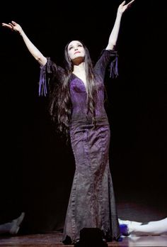 Bebe as Morticia on Broadway