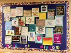 My School Counseling Pinterest posters/quotes Board @ one of my schools (2013)