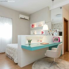 Amazing Teen Girl Bedroom Decor Ideas - Home and Garden Decoration Beautiful Bedrooms, Room Design, Bedroom Design, House Rooms, Home Decor, Room Inspiration, House Interior, Small Bedroom, Dream Rooms