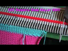 Weaving in the yarn tails when working stripes - YouTube