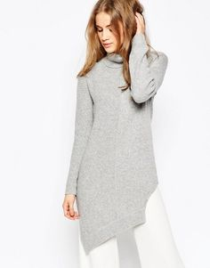 ASOS | ASOS Sweater in Blocked Asymmetric with High Neck