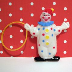 Three Retro Clown with Loop Cake Toppers by LulusCupcakeBoutique
