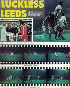 Bayern Munich 2 Leeds Utd 0 in May 1975 in Paris. Action from the European Cup Final. European Cup, Leeds United, Champions League, Munich, Finals, Paris, Action, Football, Bavaria