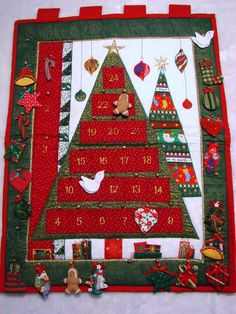 The Christmas Window - Fabric Christmas Tree Advent Calendar available at www.thechristmaswindow.com