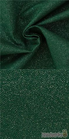 """dark green cotton fabric with silver glitter, very high quality fabric, typical perfect Japanese quality, Material: 100% cotton, Fabric Width: 110cm (43"""") #Cotton #Solid #Glitter #Christmas #JapaneseFabrics"""