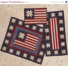On Sale Patriotic Placemats Place Mats Wall by CountryNMore2