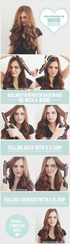 DIY Symmetric Curls hair diy curls easy crafts diy ideas diy crafts do it yourself easy diy diy hair diy curls diy tips diy fashion easy diy craft ideas diy tutorial diy tutorials