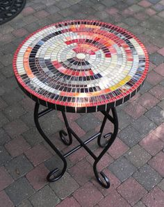 Stained Glass Mosaic Coffee Table Side Table by NewArtsonline