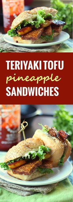 Pineapple Teriyaki Tofu Sandwiches - Connoisseurus Veg