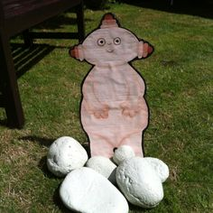 Party games for In the night garden - buy cheap plastic rocks for the fire place, hide them around the garden and get the kids to find them for macca pacca