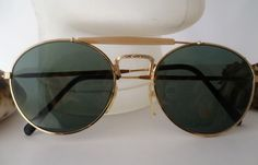 """Vintage Brillen - ☮ Sonnenbrille """"Piloten-Style""""gold☮ - ein Designerstück von Camden-Market bei DaWanda"""