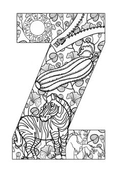 Printable alphabet coloring book pages - I want to have each of our family and friends  color one and write a note to her to make an alphabet book for Zia's birthday!