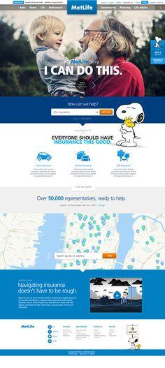 MetLife / Global Website on Behance