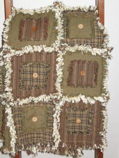 rag quilt ideas @ DIY Home Ideas I like the button idea.