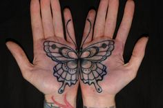Koru Tattoo: Catching Butterflies- okay, not on my palms, but I like the butterfly. Butterfly Tattoo Cover Up, Butterfly Tattoo Meaning, Butterfly Tattoo On Shoulder, Butterfly Tattoos For Women, Butterfly Tattoo Designs, Tattoo Designs For Women, Tattoo Girls, Girl Tattoos, Tattoos For Guys