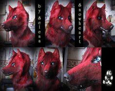 Shade mask by SnowVolkolak on DeviantArt Furry Pics, Furry Art, Cool Costumes, Halloween Costumes, Fursuit Head, Lovely Eyes, Animal Costumes, Art Memes, Fox Fur