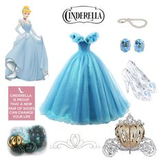 """""""Cinderella look alike"""" by perffmaiik ❤ liked on Polyvore featuring Swarovski"""